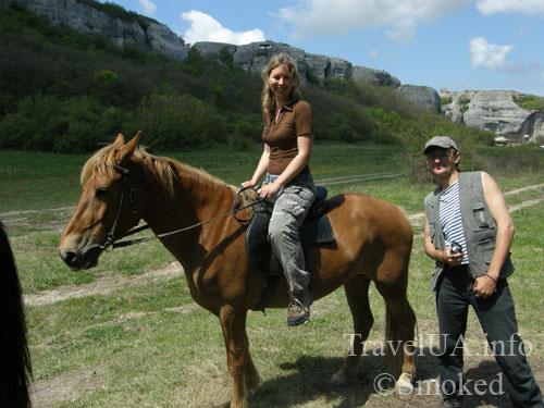 Крым, туризм, Эски-Кермен, горы, кони