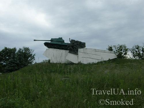 Дубно, памятник, танк, Тараканов