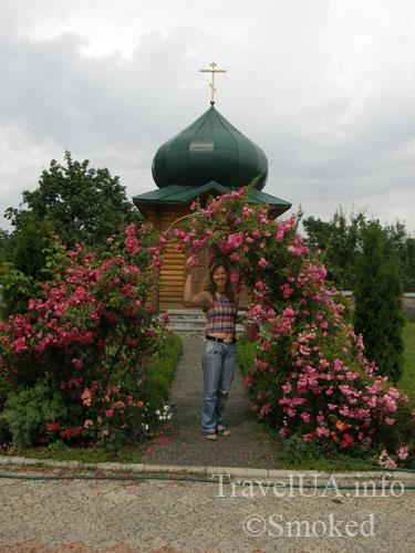 Тригорье, монастырь, розы