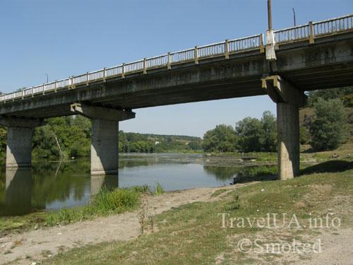 Южный Буг, река, пейзаж, природа, мост