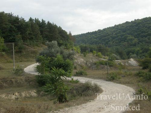 Молдова, Косэуць, монастырь, дорога, пейзаж