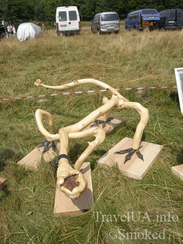 Свирж-2009, выставка, деревянный дракон