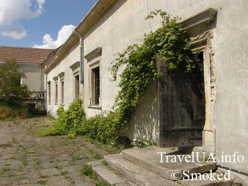 Свирж, Свиржский замок, Львовская область, виноград на дверях