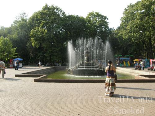 Кишинев, Молдова, парк имени Штефана Великого, фонтан