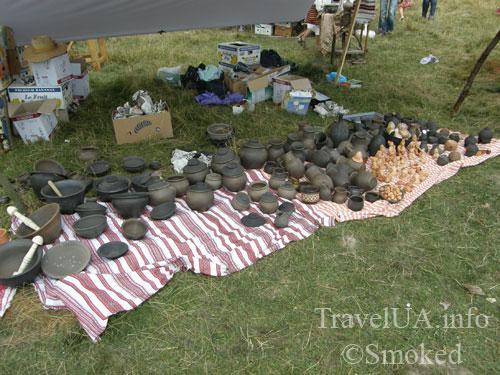 Свирж-2009, выставка, гончарные изделия, горшки, изделия из глины