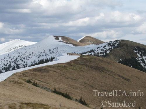 Закарпатье, горы, снег, хребет, Пишконя