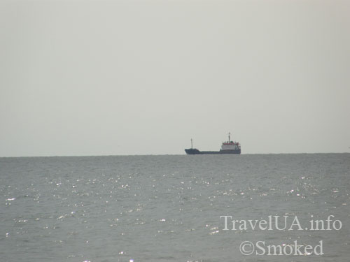 Одесская область, море, корабль в море