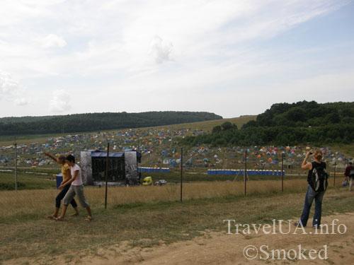 Свирж-2009, палаточный городок, лагерь