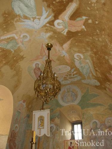 Унив, Унивская Лавра, монастырь, роспись, фреска, интерьер