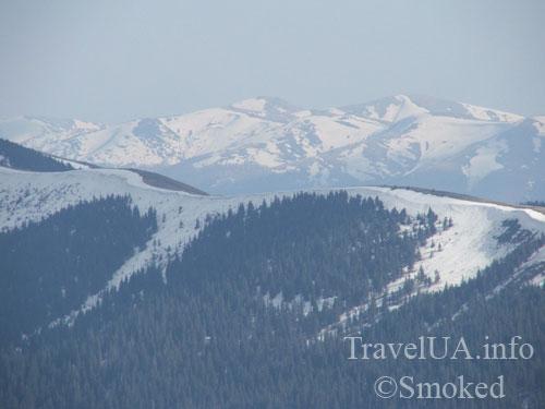 Закарпатье, снег, горы, Карпаты, пейзаж