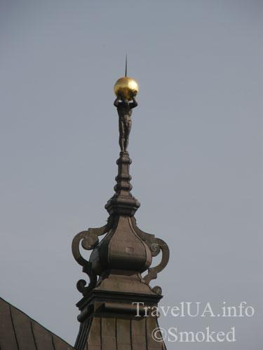 Подгорцы, дворец Конецпольских, атлант