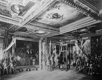 старинный интерьер, Подгорцы, дворец Конецпольских
