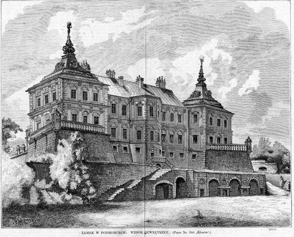 Подгорцы, дворец Конецпольских, 1876 год, картина Матейко