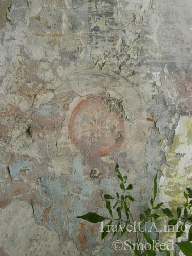 Куткир, фреска, костел, развалины