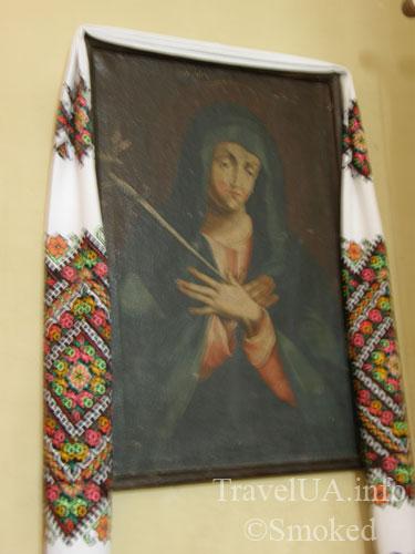 картина, дама с кинжалом, Подкамень, монастырь