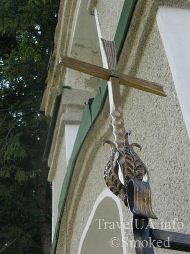 Плиснецк, Подгорцы, монастырь, крест, кованный крест