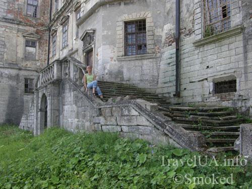 Подгорцы, дворец Конецпольских, каменная лестница