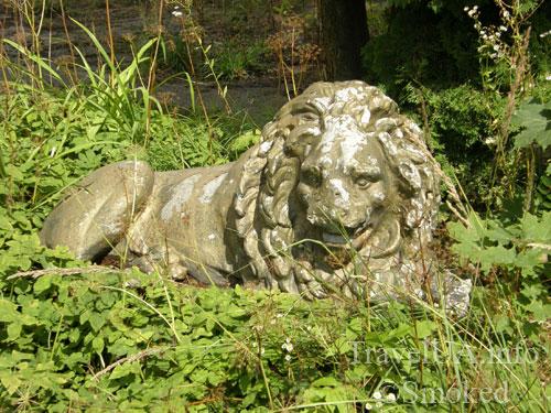 лев, статуя, Буск, Бадени, дворец