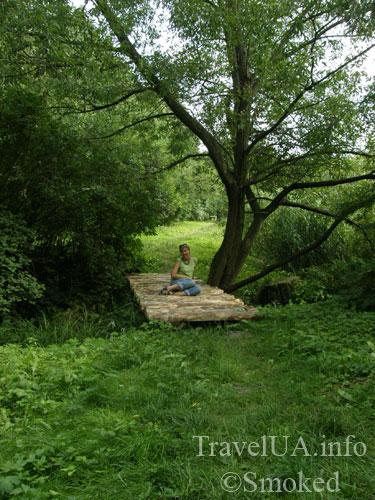 Олесько, Львовская область, парк, мост в парке