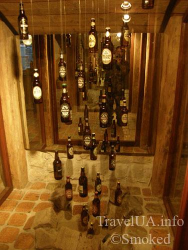 Львов, музей пива, пивные бутылки