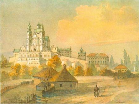 картина Шевченко, Почаев, Лавра, монастырь