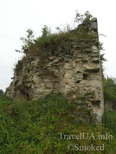 Заложцы, Зализцы, замок, руины, стена