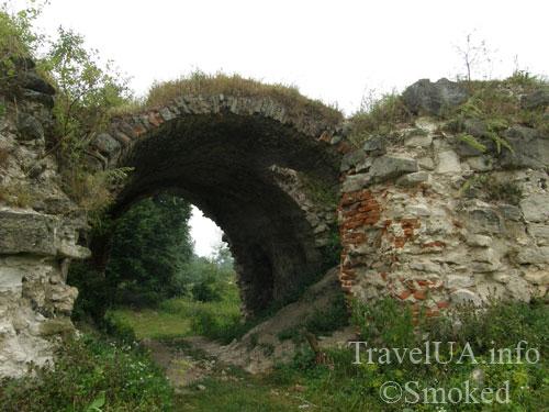 Заложцы, Зализцы, замок, руины, арка, ворота