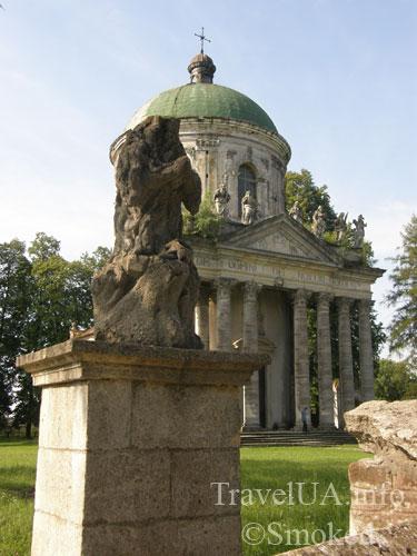 Подгорцы, костел святого Иосифа, усыпальница Жевусских, базилика, статуя