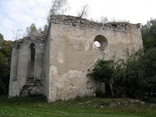 Заложцы, Зализцы, костел, руины