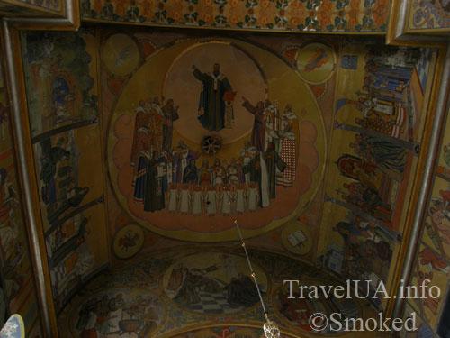 интерьер, Жовква, роспись, василианский храм, храм сердца господнего
