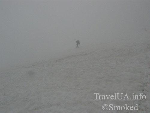 Говерла, Карпаты, горы, туман