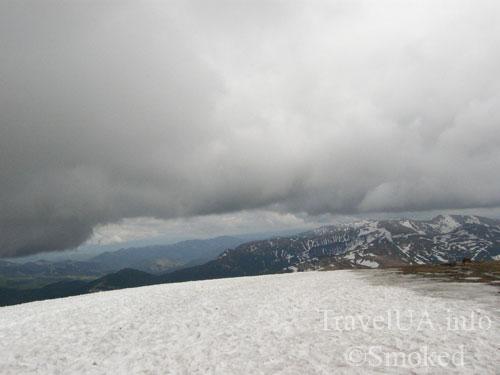 Говерла, Карпаты, горы, снег