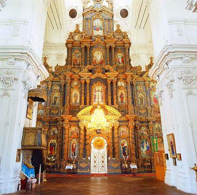 Козелец, собор, Разумовские, иконостас