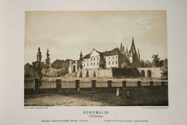 Новомалин, Новый Малин, Наполеон Орда, старый рисунок