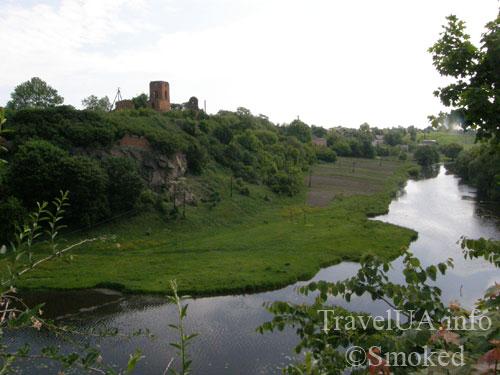 Корец, река, руины, замок