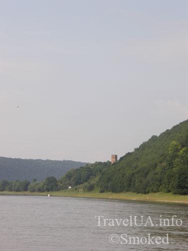 Раковец, Днестр, башня, замок, пейзаж