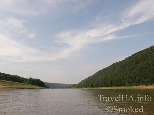 Днестр, пейзаж, река