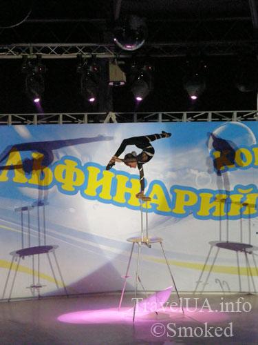 дельфинарий, гимнастка, Коктебель