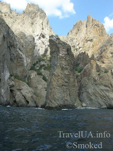 Коктебель, Карадаг, пейзаж, природа, берег, скала-парус