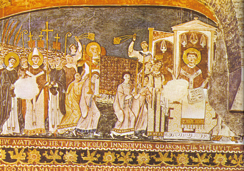 Кирилл, Климент, мощи, фреска