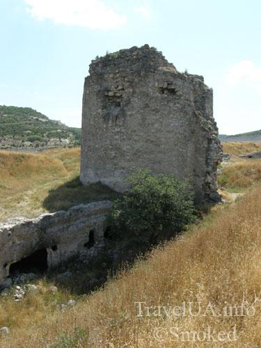 Каламита, Инкерман, Крым, стена, башня
