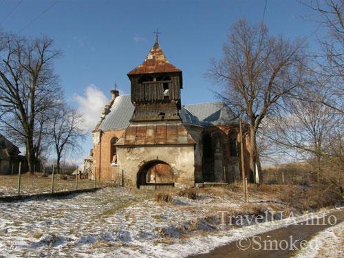 Старая Соль, костел с колокольней, Львовская область