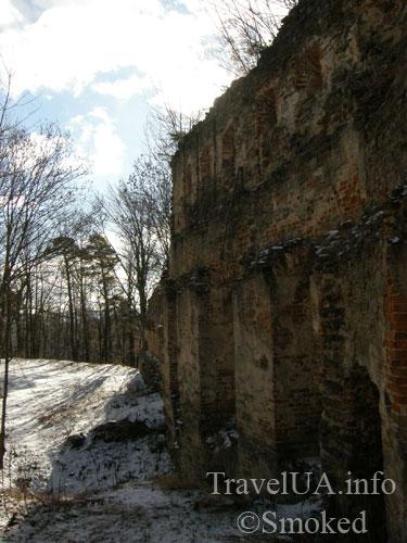 замок Гербуртов, Добромыль, развалины, Тернава