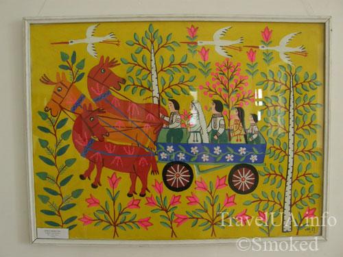 картина, дворец в Качановке, музей
