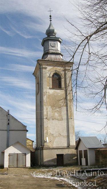 колокольня, костел, Добромыль, Львовская область