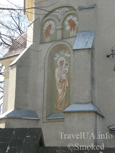 роспись, фреска, костел, Добромыль, Львовская область