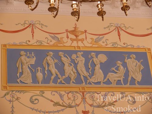 интерьер, роспись, музей, Батурин, дворец Розумовского, Черниговская область