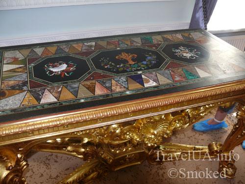 старая мебель, мозаика, картины, музей, Батурин, дворец Розумовского, Черниговская область